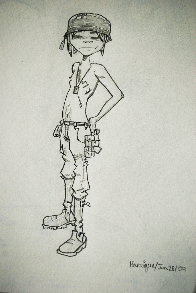 2D Gorillaz Sketch | Original Art By Gorillazu0026#39; Jamie Hewlettu2026 | Flickr