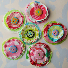 Layered fabric flower set | by Laurie Star