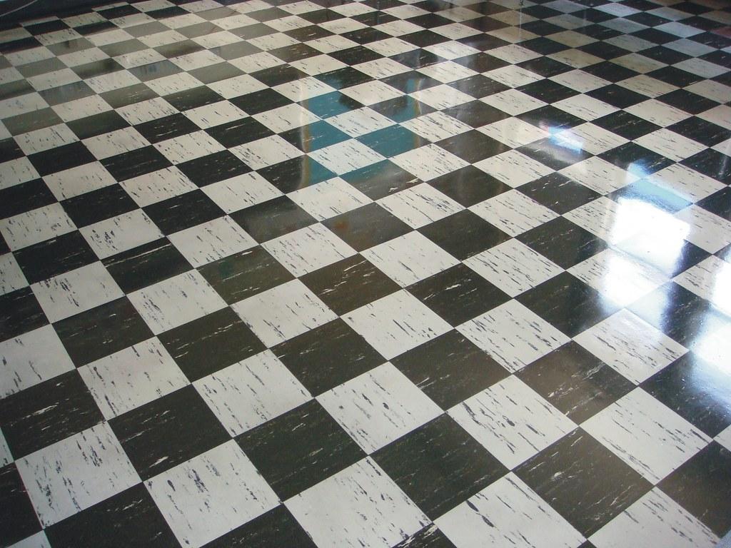 Vintage Asbestos 9x9 Floor Tile Checker Pattern Flickr
