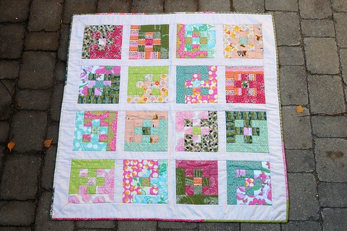 Nine Patch Baby Quilt Makesomething Ca 2009 11 26 Nine