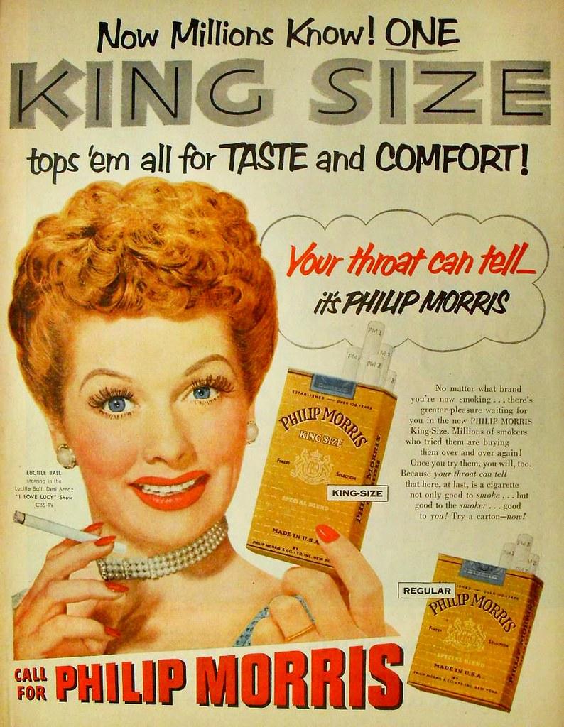 1950s Philip Morris Lucille Ball Vintage Cigarettes Advert
