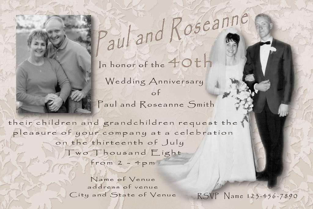 Wedding Anniversary Invitation Message: Wedding Anniversary Invitation Custom Photo Collage Multi