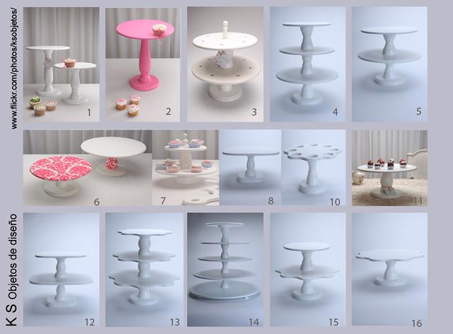Torres y alzadas para cupcakes soportes para cupcakes flickr - Bases para cupcakes ...
