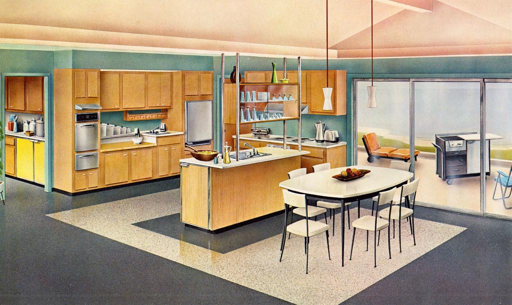 Mid Century Kitchen Interior Paint