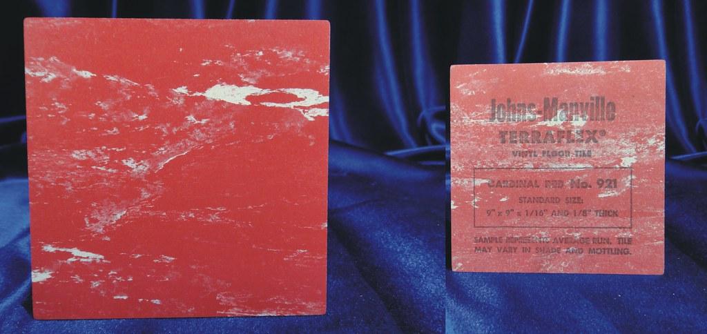 Johns Manville Terraflex Vinyl Asbestos Floor Tile Sample Flickr