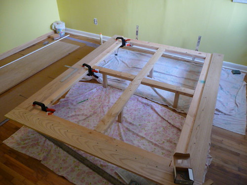 DIY Platform Bed Project Top Frame I Used Some Oak