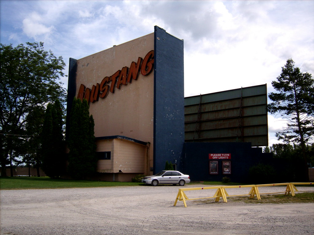 mustang drive in theater london ontario ron flickr. Black Bedroom Furniture Sets. Home Design Ideas