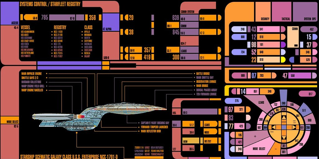 Coffee table console for star trek party this was the cove flickr - Star trek online console ...