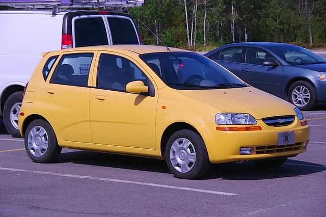 Yellow Chevrolet Aveo Jaune Mario Groleau Flickr
