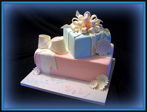 Pink Amp Blue Baby Shower Cake Sex Unknown 9 X 13