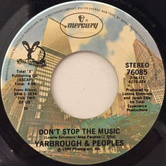 YARBROUGH & PEOPLES:DON'T STOP THE MUSIC(LABEL SIDE-A)