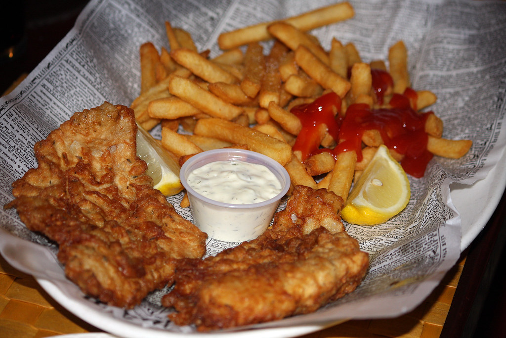 Fish n chips at o 39 toole 39 s irish pub yep i 39 m a ketchup for Fish and chips restaurant near me