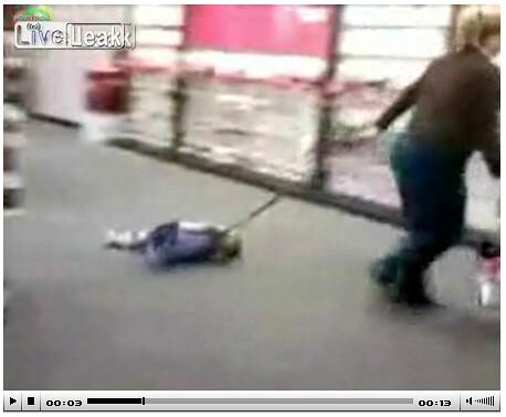 Woman Drags Child On Leash Through Verizon Store Video