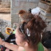 local chick on head