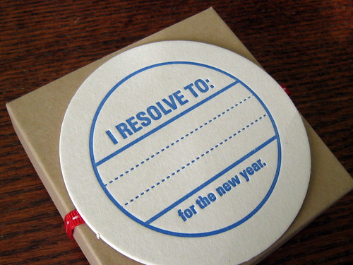 New Year's Resolution Coasters by Lucky Bee Press | by BazaarBizarreSF