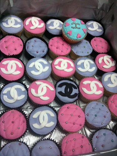 Box of Pink & Purple Coco Chanel Cupcakes | by Cupcake Central (Sheryl)
