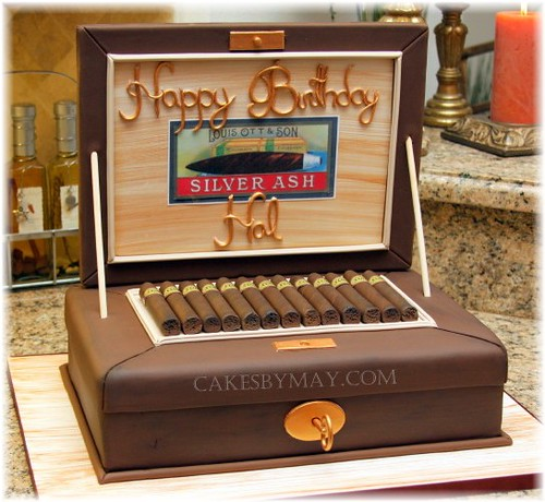 Birthday Cake With Cigar
