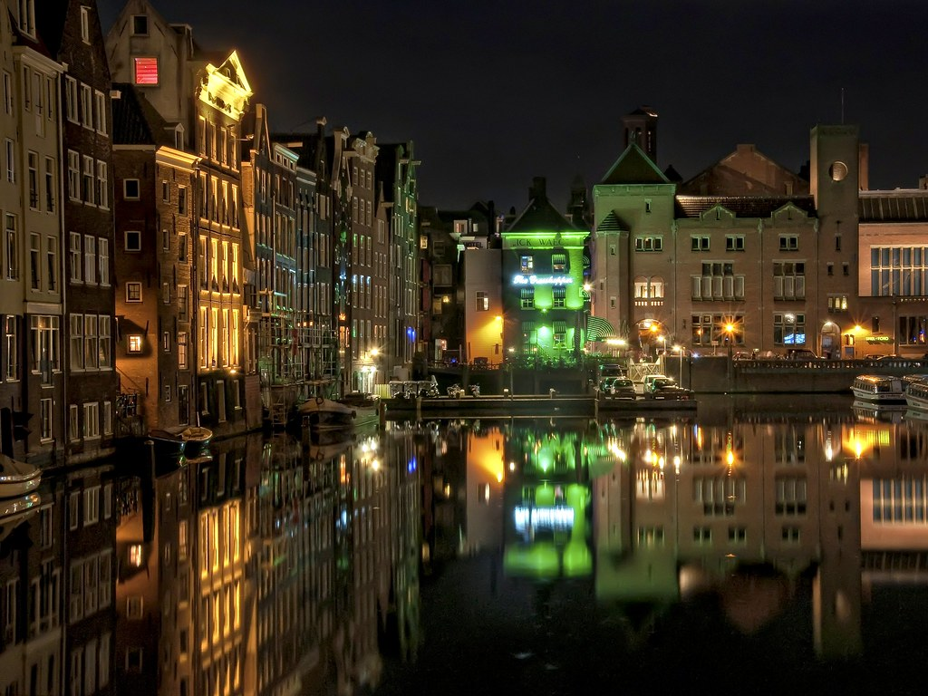 Entrance Red Light District Amsterdam At Night I