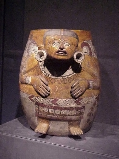 Aztec Ceramic Effigy Vessel Depicting Male Figure Mexico 1