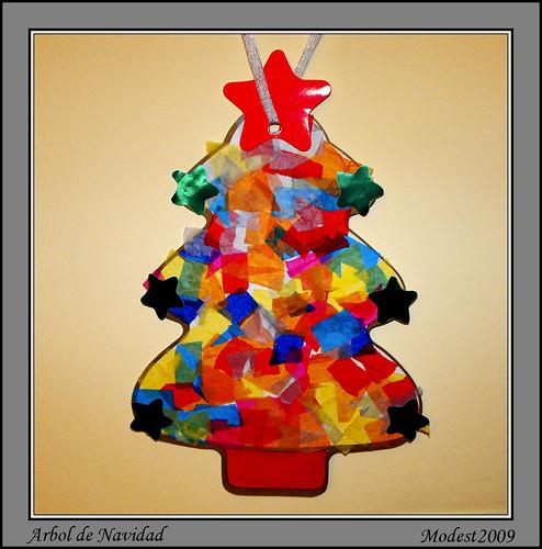Arbol de navidad foto tomada del rbol collage realizado for Arbol de navidad mural