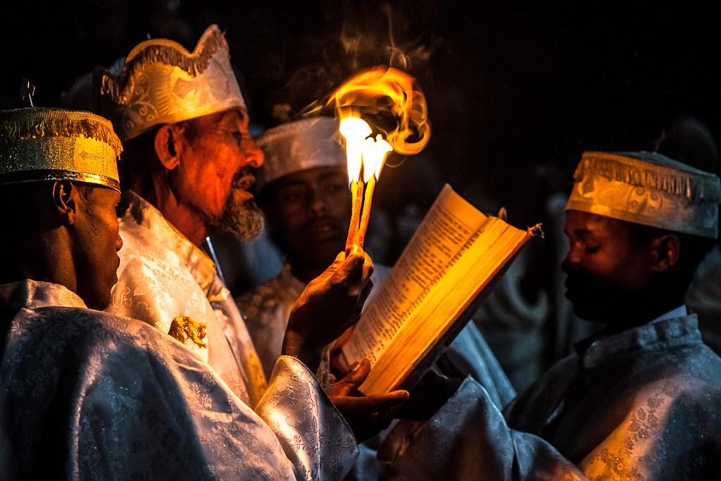 Priest Celebrate Fasika In The Church Bet Medhame Alem Eas