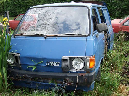 Old Toyota Liteace Van Along With The Toyota Hiace The
