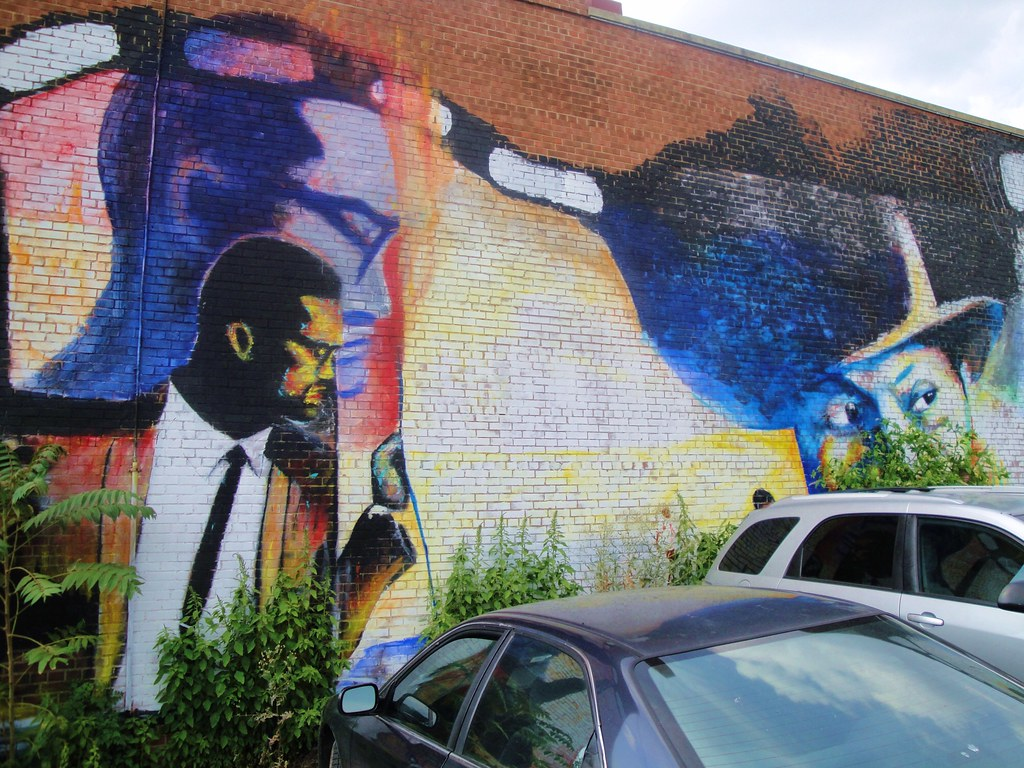 Malcolm x mural 2 howard university affiliated parking for Malcolm x mural