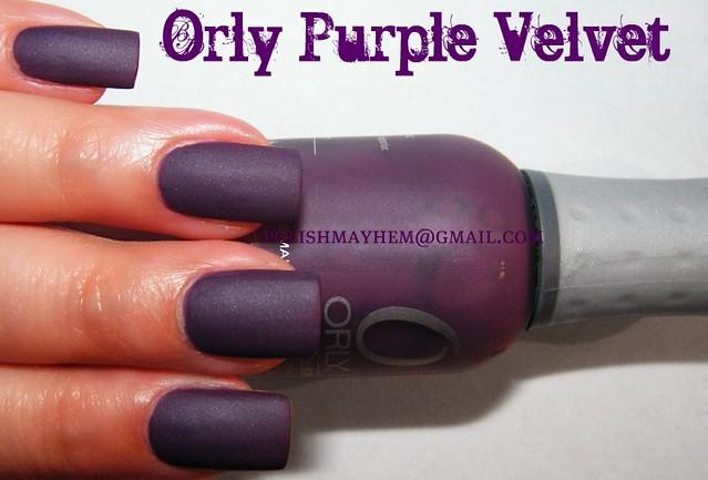 Orly Purple Velvet | Orly Purple Velvet - purple matte nail … | Flickr