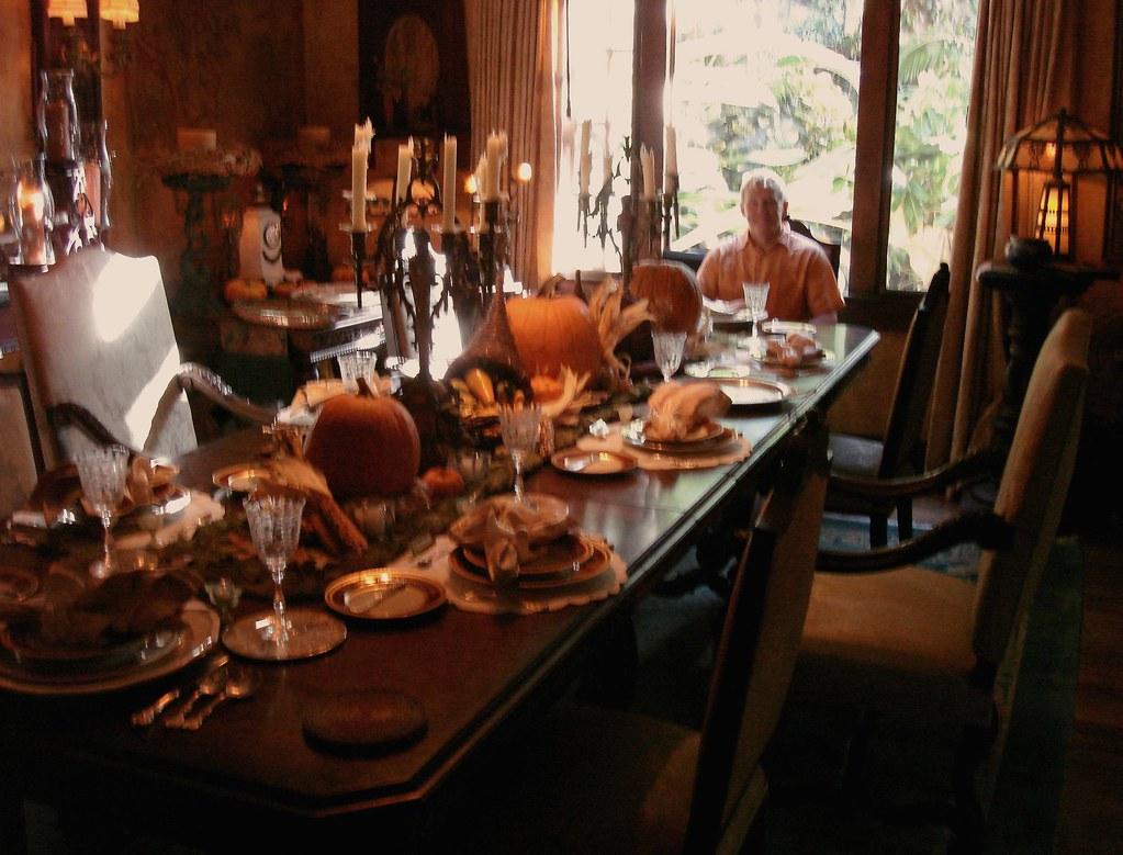 Thanksgiving Table Setting Floral Arrangement Designer Haw