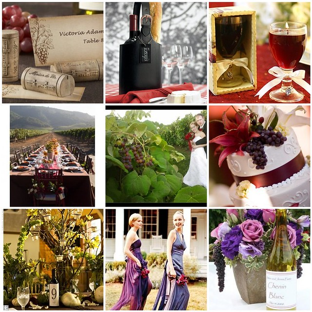 Vineyard wedding theme vineyard inspired fall wedding for Wine themed centerpieces