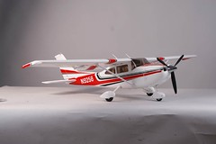 "New Super Scale 60"" Wingspan Cessna 182T with Glowing Night Lights and Drop-Hinge Flaps 