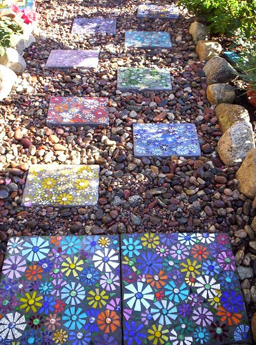 Mosaic Stepping Stone pathway 2 Another pathway in my