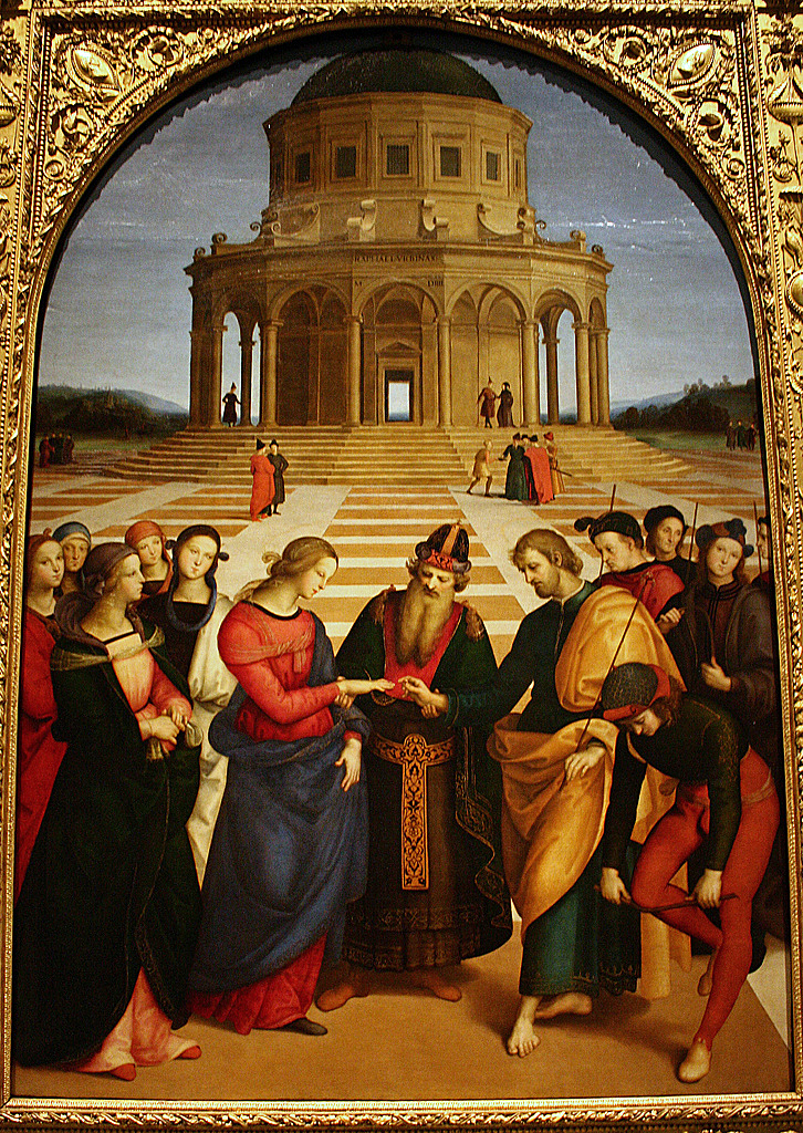 Engagement Of The Virgin Raphael Raphael 1483 1520