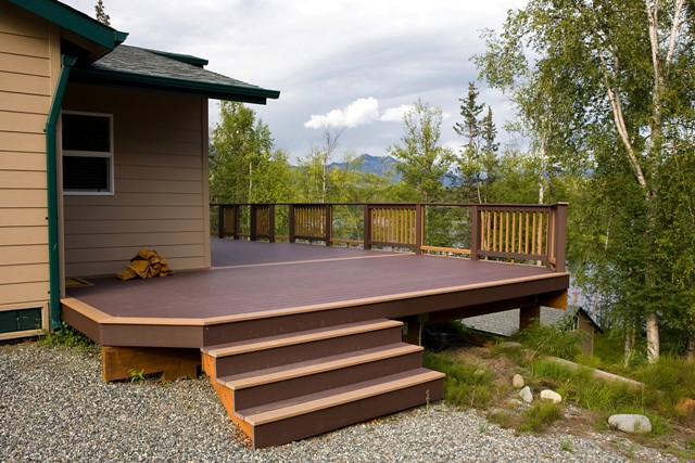 deck design ideas treeline construction alaska two toned tflickr - Trex Deck Design Ideas