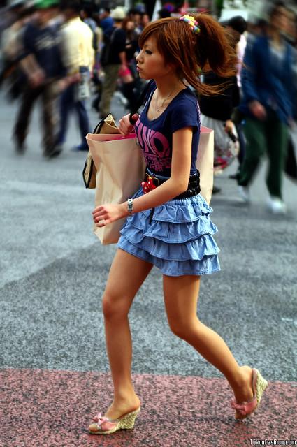 skirt Japanese girl jean