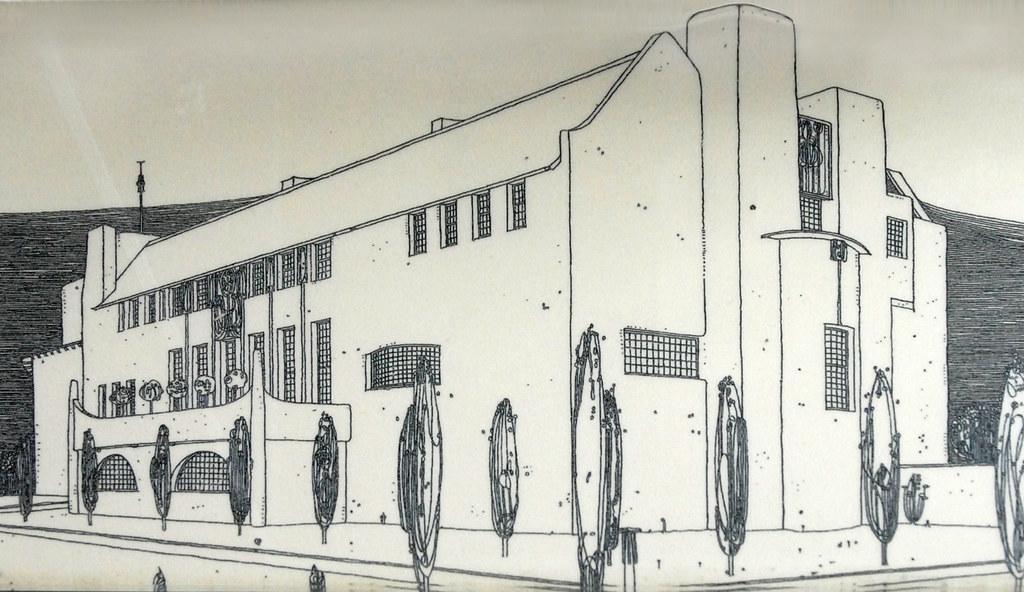 Dessin D Une Maison : Le dessin de mackintosh la quot house for an art lover vu
