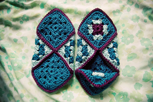 Crochet Granny Square Slipper Pattern : granny square slippers [4] blogged. Lisa Gutierrez ...