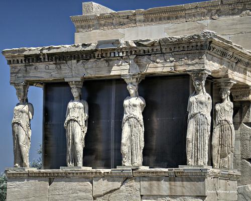 Porch of Caryatids at the Erechtheion  Acropolis, Athens ...