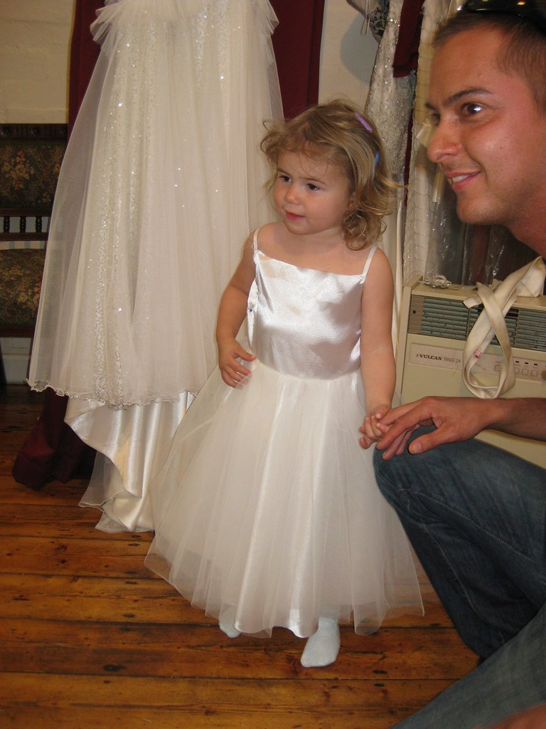 flower girl and wedding and dress