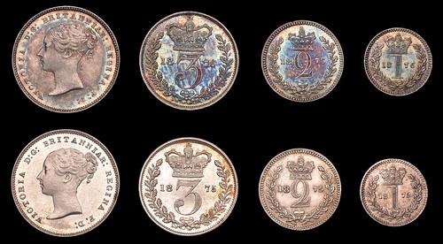 Maundy Sets 1875 1876