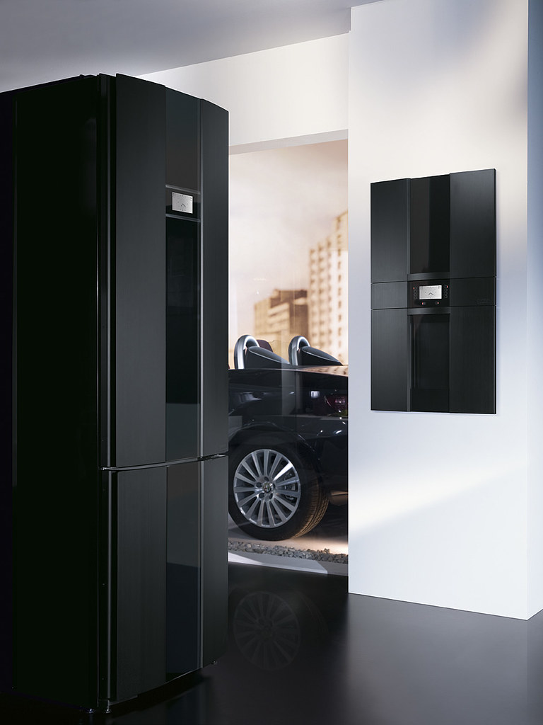 gorenje pininfarina black fridge oven and car the. Black Bedroom Furniture Sets. Home Design Ideas