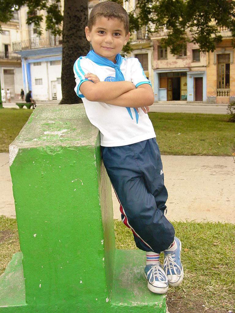 Young Boy In Confident Pose - Centro Habana - Havana - Cub -5229