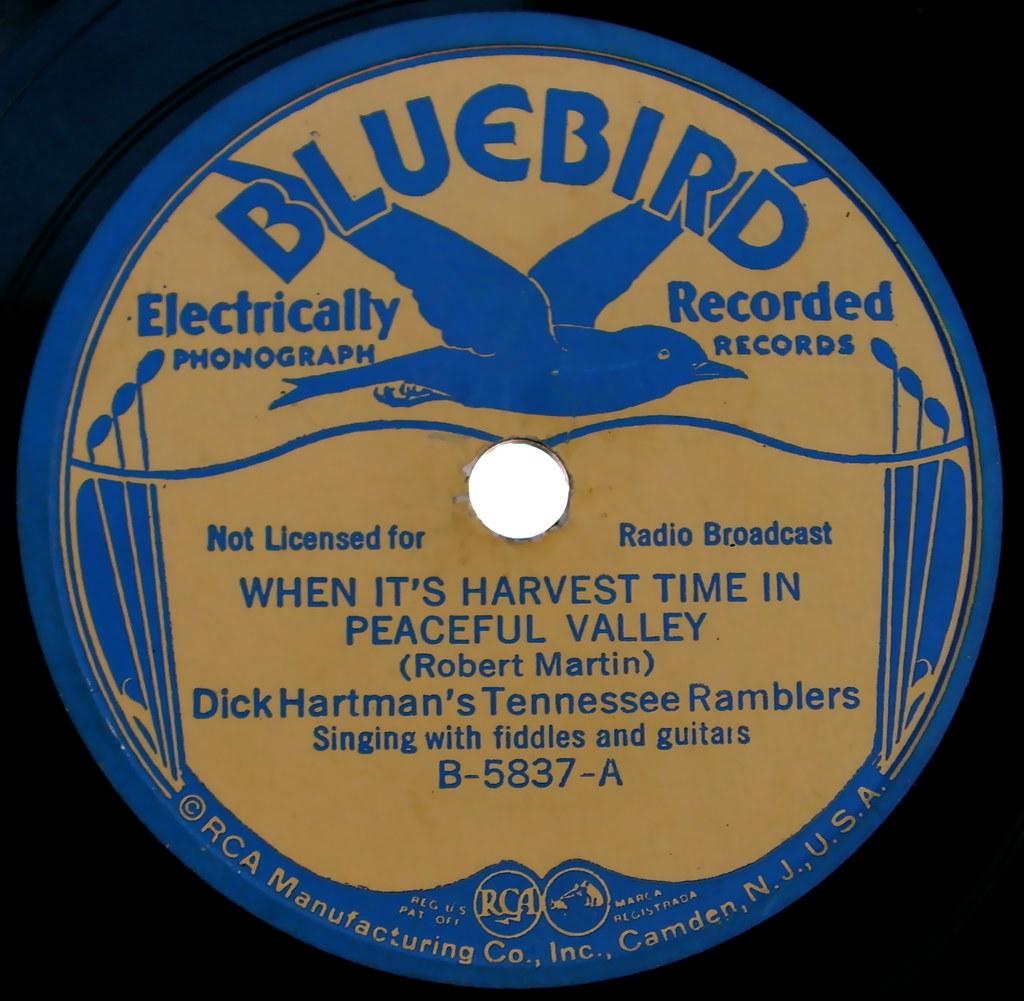Bluebird Vintage Record Label Sally Mcburney Flickr