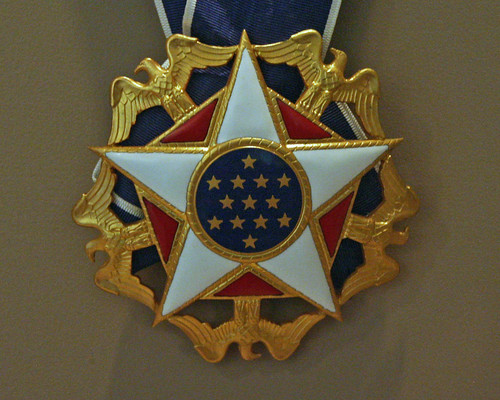 Presidential Medal Of Freedom Detail Presented To Lady