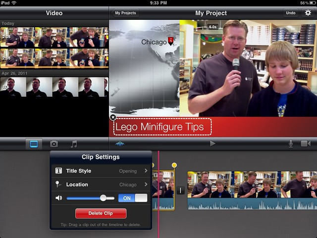 how to add a photo on imovie ipad