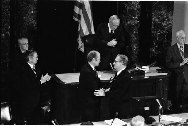 Confirmation of Nelson Rockefeller as Vice President
