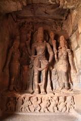 Cave 1. Parvathi, Harihara and Lakshmi