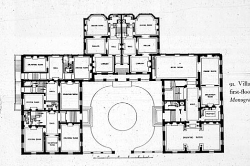 Villard house plan new york city 1882 85 mckim mead w for New york house plans
