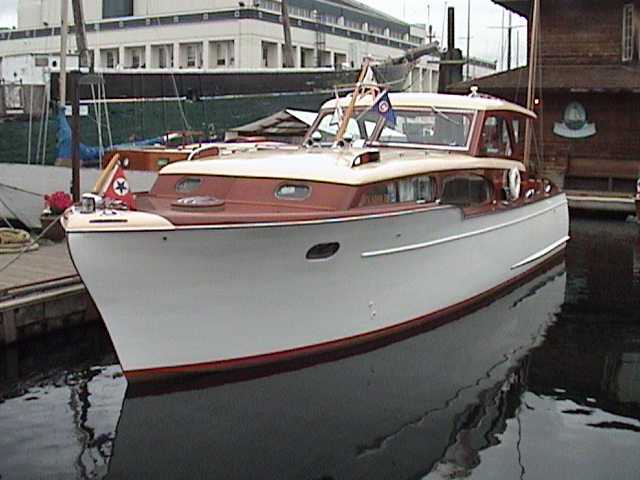 Wooden Chris Craft Cabin Cruiser