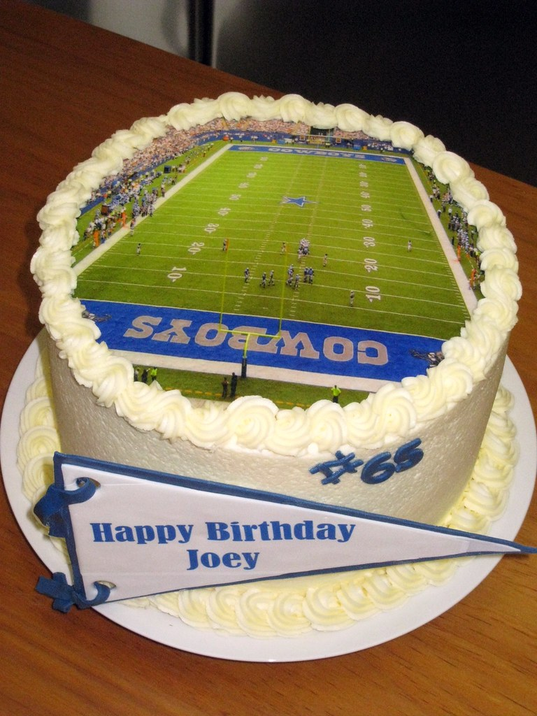 Dallas Cowboys Birthday Cake Chocolate And Strawberry Cake Flickr